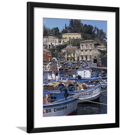 Fishing Village of Santa Maria La Scala, Sicily, Italy, Mediterranean Framed Print Wall Art By Sheila Terry