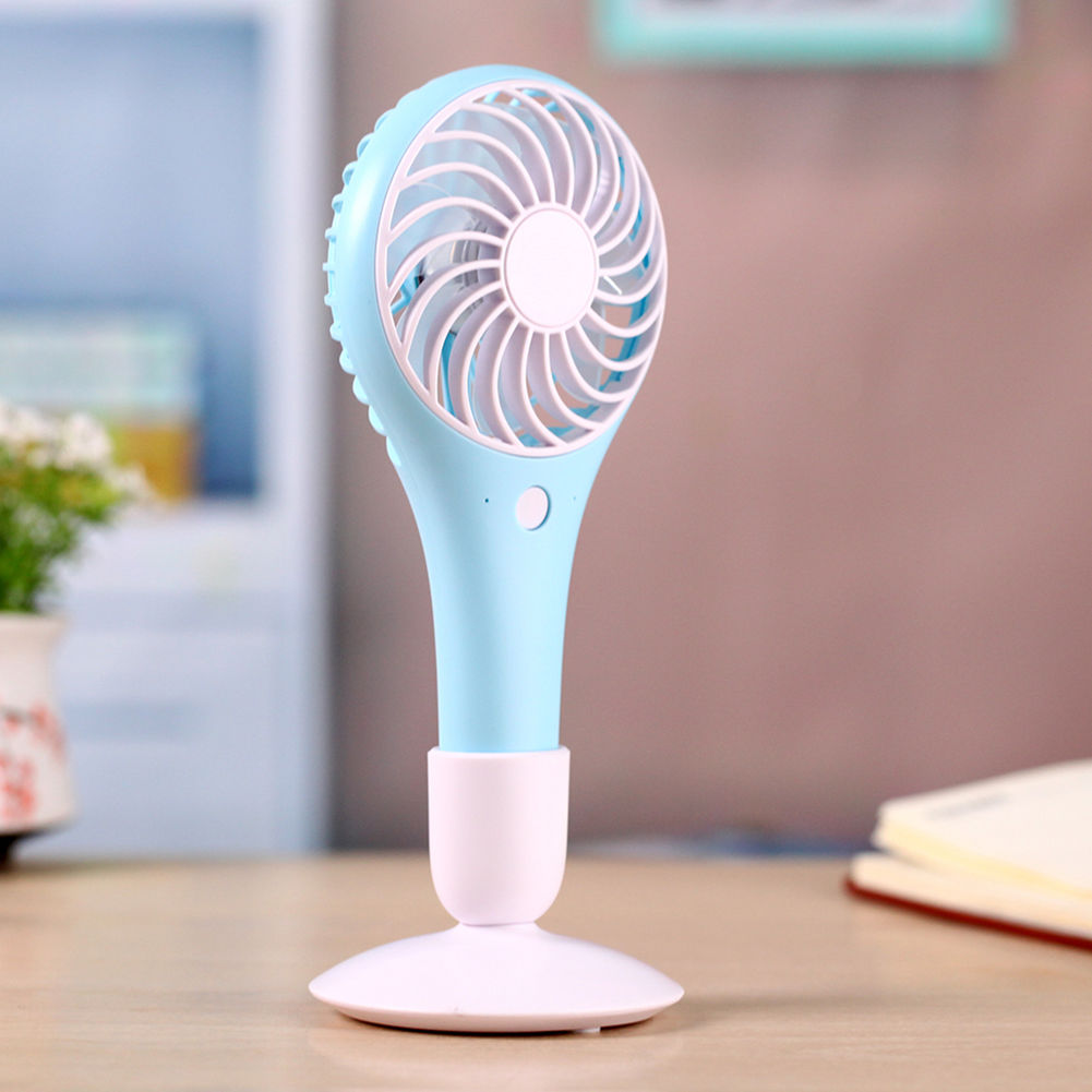Portable USB Rechargeable Fan Air Cooler Mini Operated Hand Held Desktop Fan for Office Home Travel