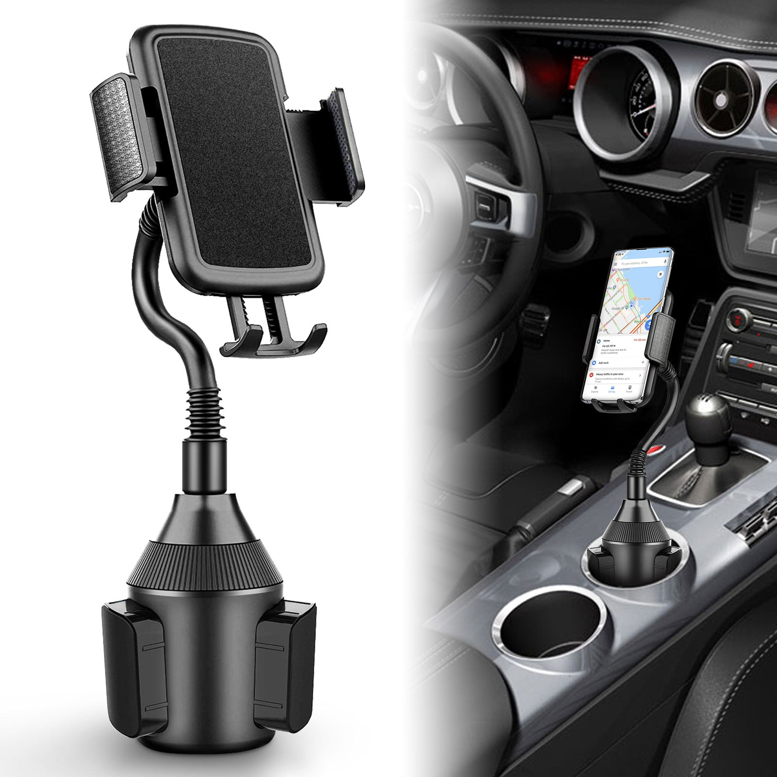 Car Cup Holder Phone Mount Samsung Universal Adjustable Portable Car Cradle Cup Holder Mount for iPhone 7 8 11 X XR XS Max