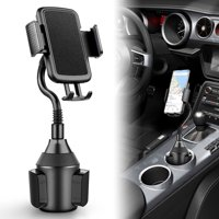 Car Cup Holder Phone Mount, Universal Adjustable Gooseneck Cup Holder Cradle Car Mount 360 Rotatable, Fit For iPhone 11/11 Pro XS XR XS Max X 8 8 Plus 7 7+ 6s, Samsung Galaxy S10/S10E/S9/S8/Note 9/8
