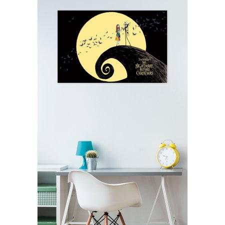 Nightmare Before Christmas Pillow (Trends International The Nightmare Before Christmas Moonlight Wall Poster 22.375