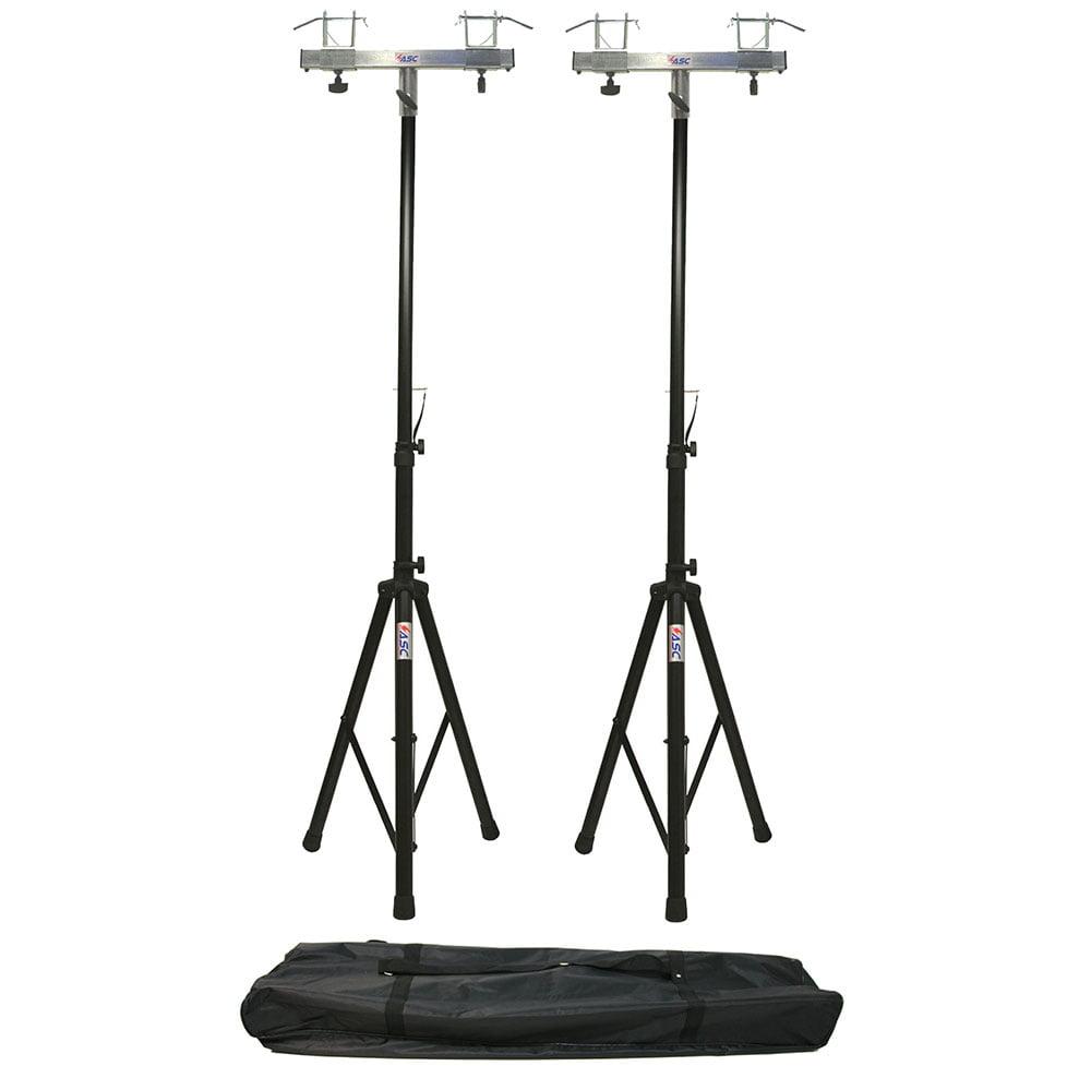 (2) DJ Pro Lighting 6 Foot Tripod Light Stand & (2) Square Truss T-Bar Adapter by