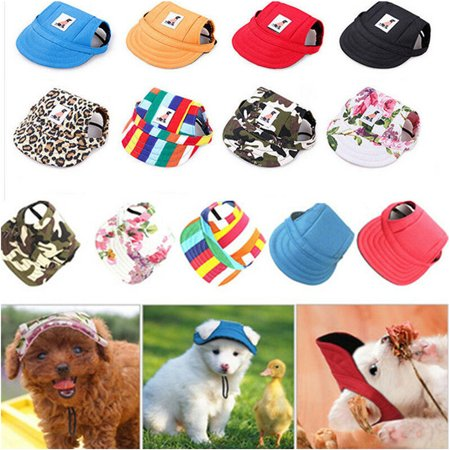 Funny Hats For Dogs (Cute Pet Cap wih Ear Holes for Dog Funny Cosplay Prop Hat Dog Sunshade Baseball Hat blue)