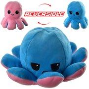 Doingart Reversible Plushie Octopus Stuffed Animal Toy, Soft Flip Toy Gift for Valentine Birthday