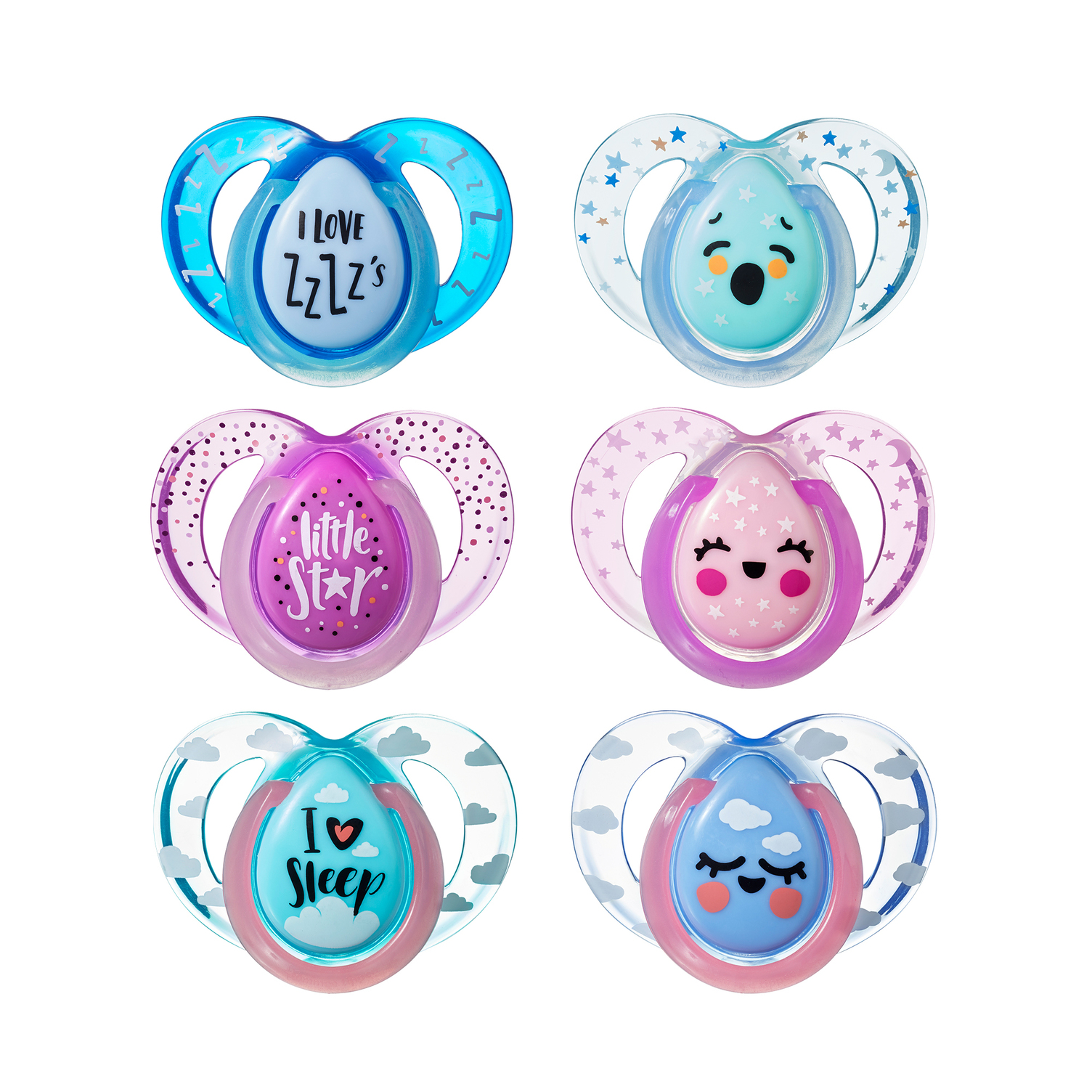 Tommee Tippee Night Time Pacifier, 6-18 mo., 2 pk. - Colors, Characters, Theme May Vary