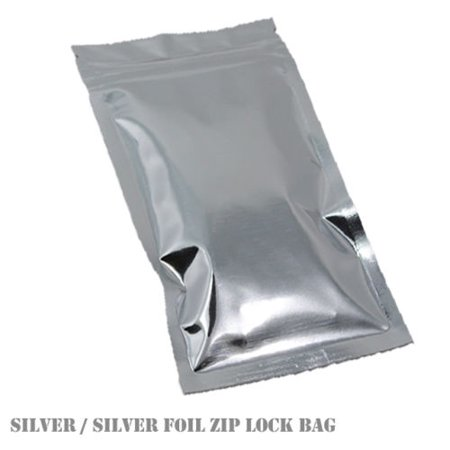 MTP 100X Flat Style Silver Aluminium Foil (both side) Reusable Reclosable Zip Lock Bag Food Save Flat Mylar Metallic
