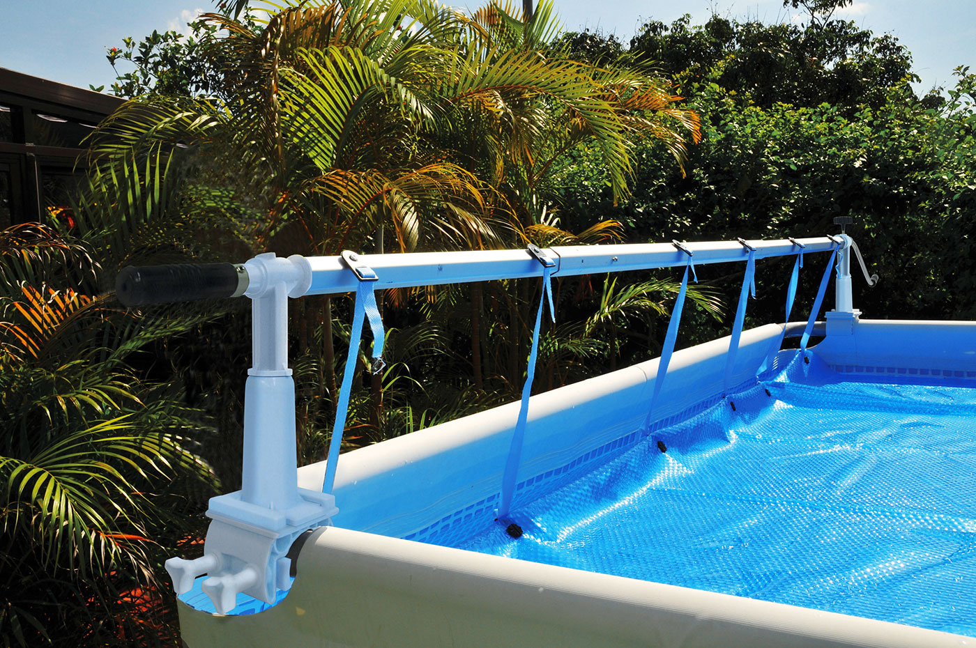 Intex Pools round solaris kokido above ground cover solar reel for intex pools