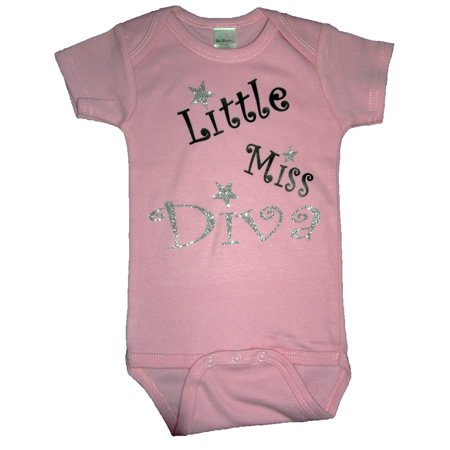 Little Miss Diva Funny Baby Romper Pink Size 3-6 Month