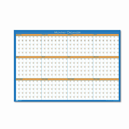 HOUSE OF DOOLITTLE                                 House of Doolittle 12-Month Laminated Wall Planner Wall Mounted Calendar Board