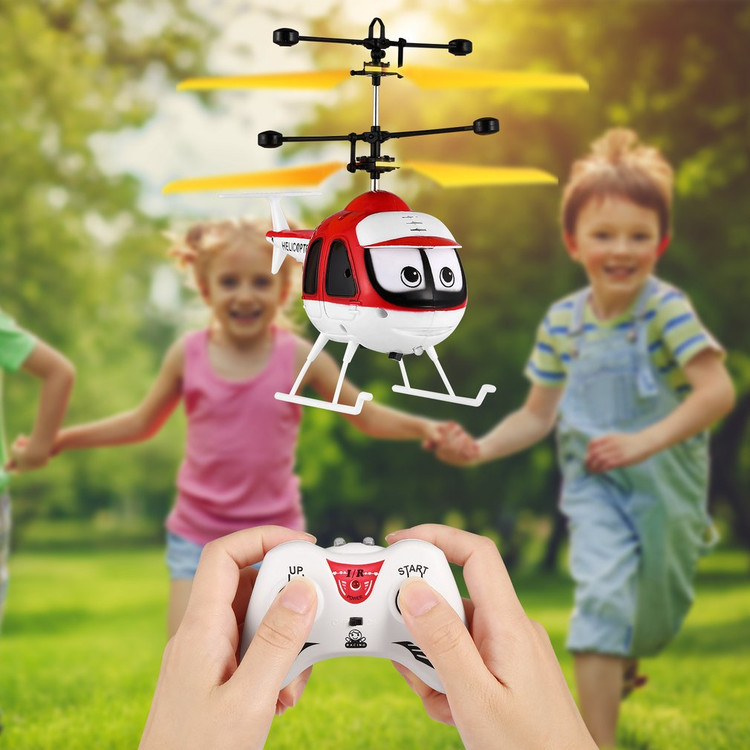 Induction Mini Flying Toys RC Helicopter Cartoon Remote Control Drone Aircraft for Kid Plane Toys Floating Toys