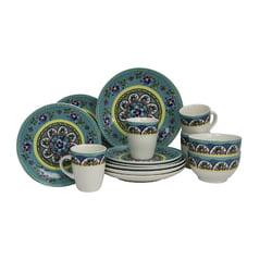 Spring Stoneware - Elama Santa Fe Springs 16pc Stoneware Dinnerware Set