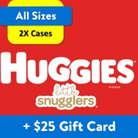 [$25 Savings] Buy 2 Huggies Little Snugglers Diapers Economy+ Packs (Any Size) with Free $25 Gift Card