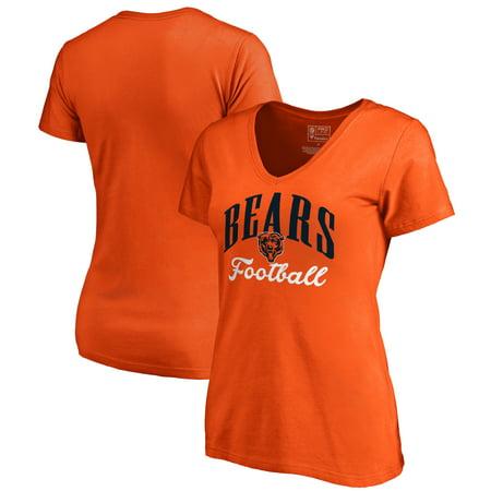 Chicago Bears NFL Pro Line by Fanatics Branded Women's Victory Script V-Neck T-Shirt -Orange (Orange Nfl Replica Jersey)