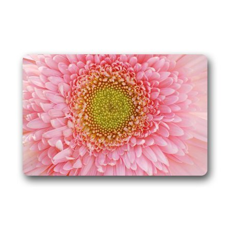 Winhome pretty light pink gerbera colorful flowers doormat floor winhome pretty light pink gerbera colorful flowers doormat floor mats rugs outdoorsindoor doormat size mightylinksfo