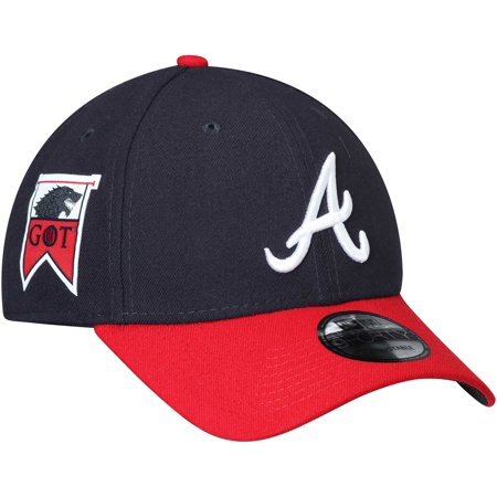 Atlanta Braves New Era Game of Thrones 9FORTY Adjustable Hat - Navy/Red - OSFA