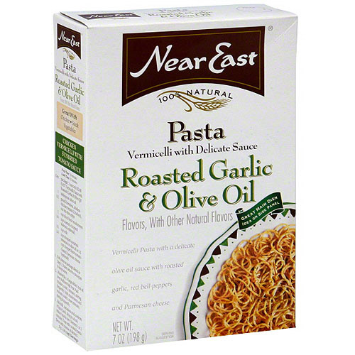 Near East Vermicelli Roasted Garlic & Olive Oil Pasta, 7 oz (Pack of 12)