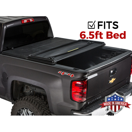 Gator ETX Tri-Fold (fits) 2019 Chevy Silverado GMC Sierra 6.5 FT Bed New Body Only Tonneau Truck Bed Cover Made in The USA (Best Folding Tonneau Cover For Silverado)