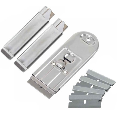 Wideskall® 10 Pcs Retractable Safety Scraper + 2 Carton Cutter + 4 Razor Blades Replace Set