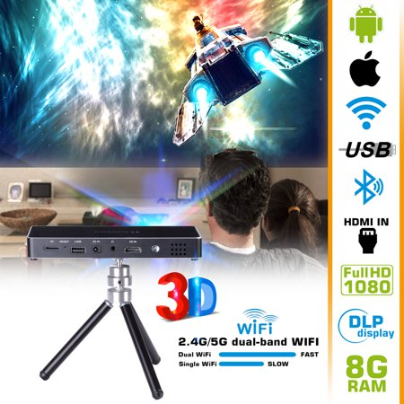 Mini Portable Projector DLP 3D HD 120