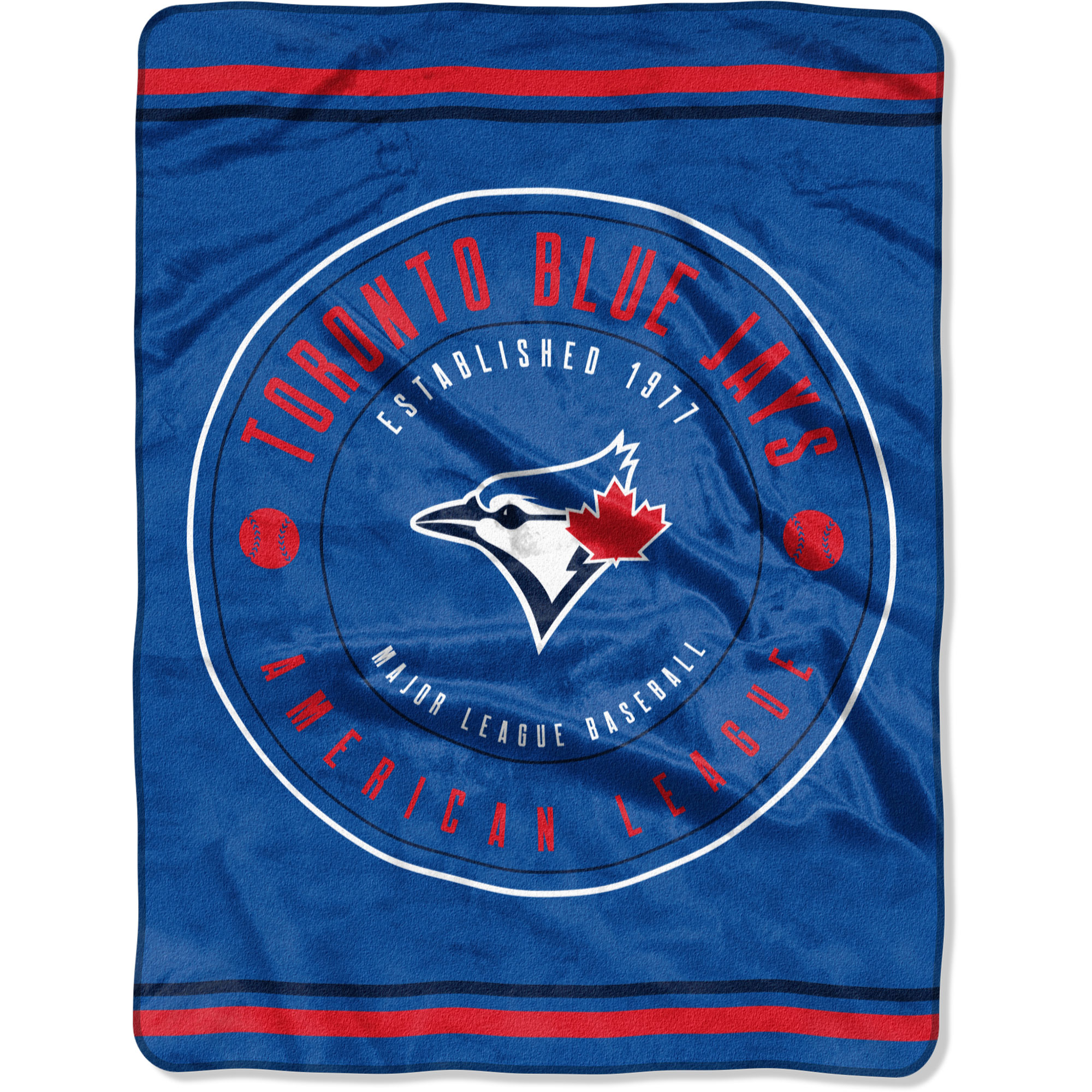 "Toronto Blue Jays The Northwest Company 60"" x 80"" Seam Oversized Plush Raschel Throw Blanket - No Size"