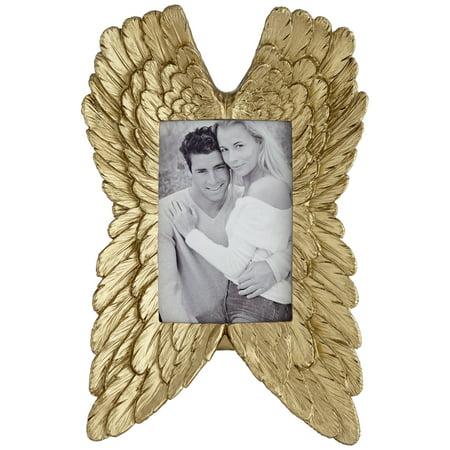 Dahlia Studios Angel Wings Gold 4x6 Photo Frame - Angel Photo Frames