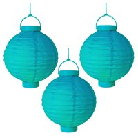 LumaBase Battery Operated Paper Lanterns- Set of Three