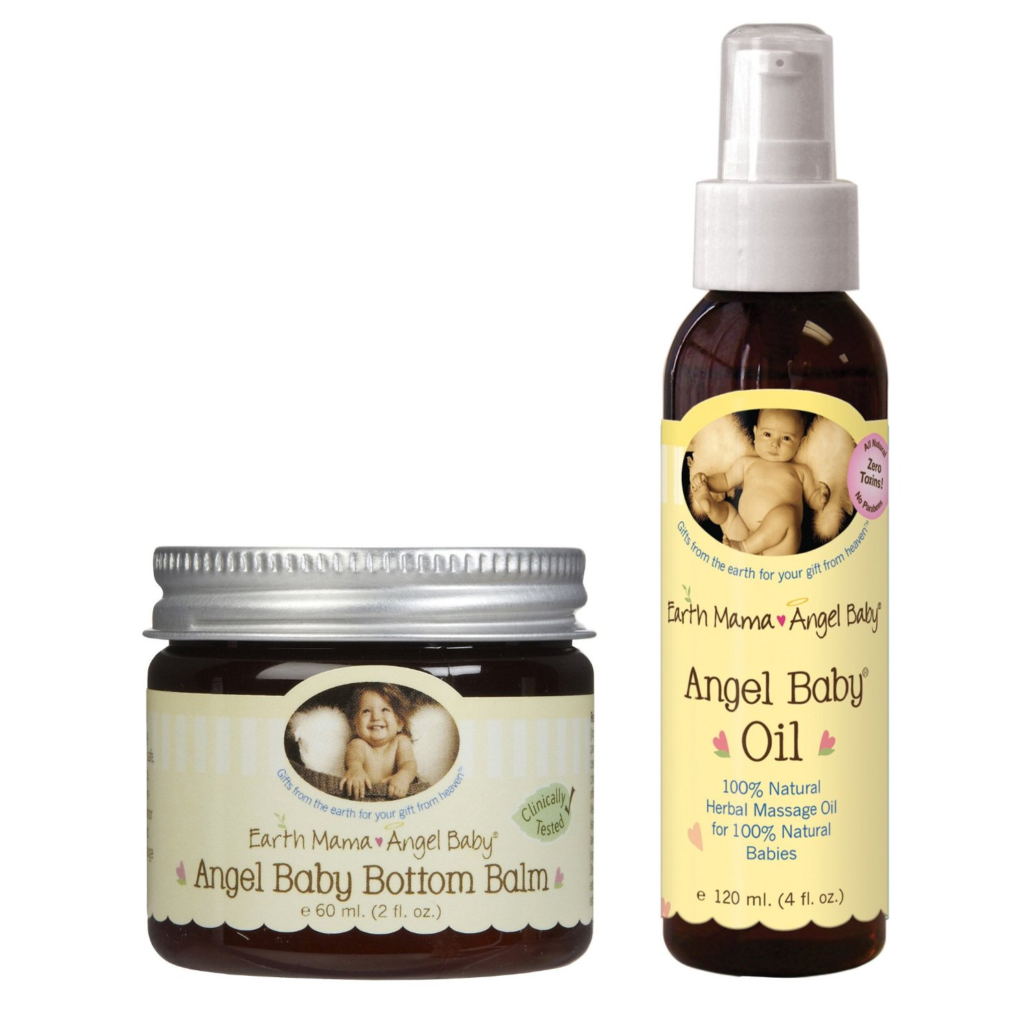 Earth Mama Angel Baby Bottom Balm & Baby Oil