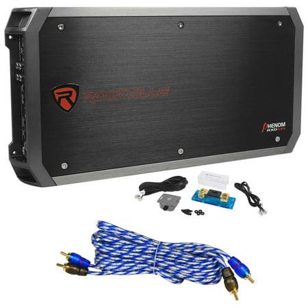 6000 Car - Rockville RXD-M4 6000 Watt/3000w RMS Class D 1-Ohm Mono Amplifier Car Audio Amp