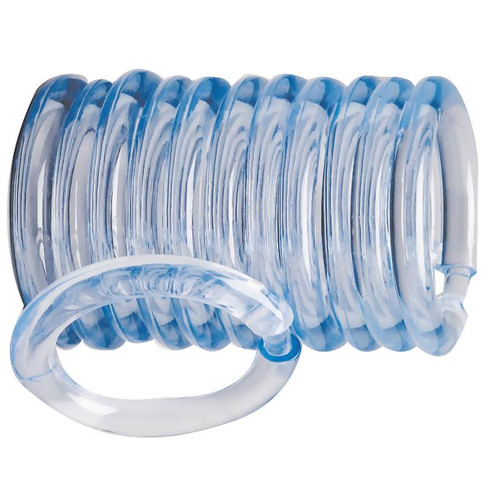 Homebasix O-Ring Shower Curtain Hooks (Set of 12)