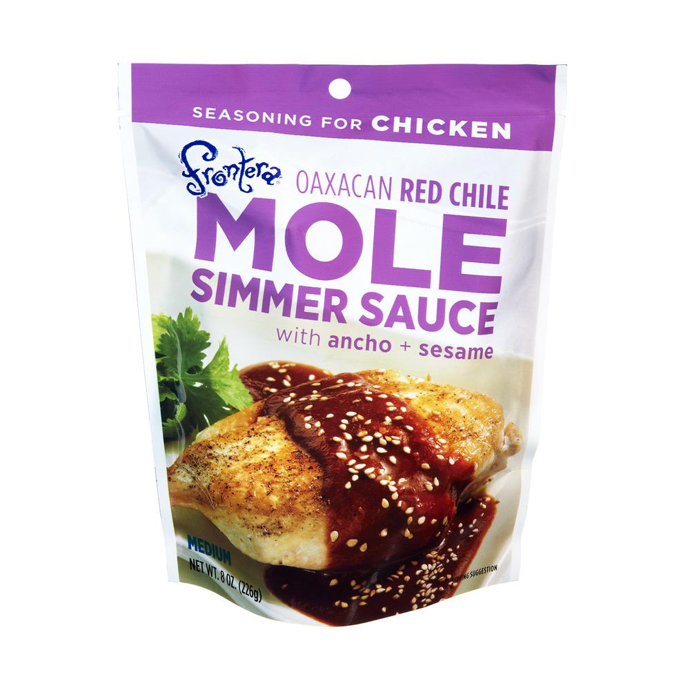 Frontera Oaxacan Red Chile Mole Medium Simmer Sauce, 8.0 OZ