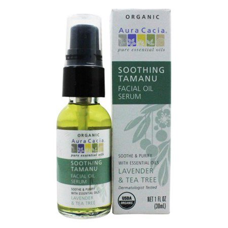 Facial Oil Serum Soothing Tamanu Lavender & Tea Tree - 1 oz. by Aura Cacia (pack of