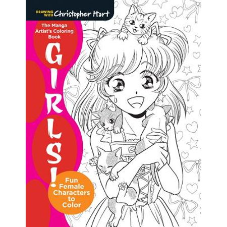 The Manga Artist's Coloring Book: Girls! : Fun Female Characters to Color