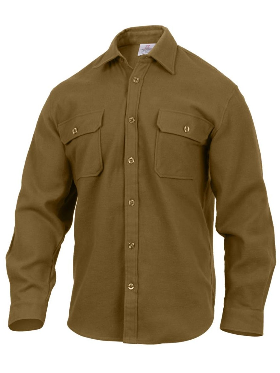 Extra Heavyweight Brawny Flannel Shirt, Solid Colors