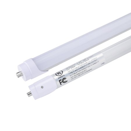 10Pcs T8 4Ft LED Light Tube FA8 18W 3000K Frosted Cover DLC-qualified - image 1 of 6