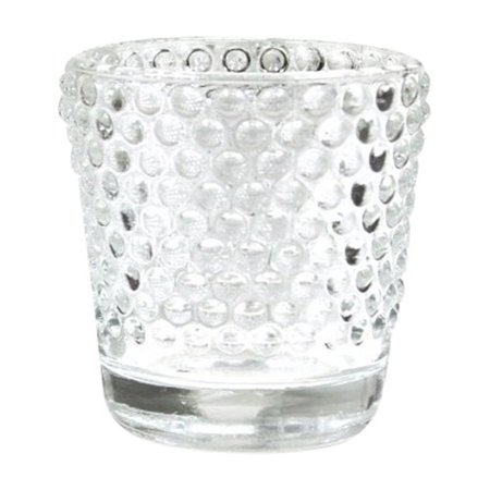 Koyal Wholesale Hobnail Glass Candle Holder (Set of 6) for $<!---->
