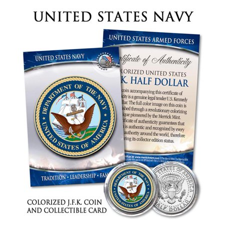 United States Rare Coins - United States NAVY * Emblem * JFK Half Dollar Coin MILITARY