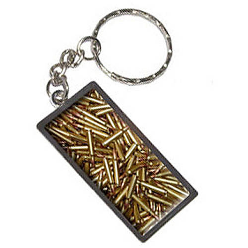 Bullets Rifle Gun Weapon Keychain Key Chain Ring