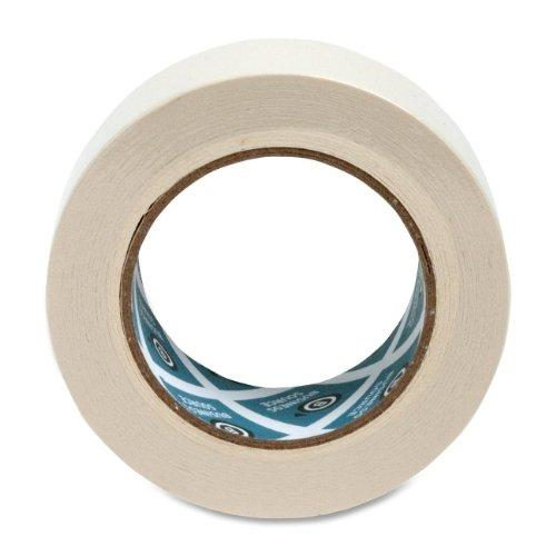 "Business Source Masking Tape - 2"" Width X 60 Yd Length - 3"" Core - 1 / Roll - Tan (BSN16462)"
