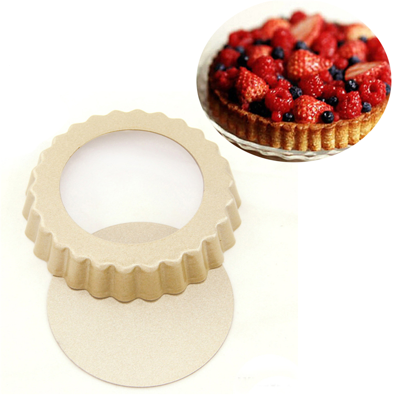 """4"""" Pie Pan Mold Baking Removable Bottom Nonstick Round Cake Removable  Heart Shape Option by"""