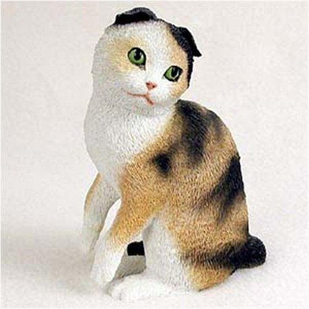 Scottish Fold, Tort/White Original Cat Figurine (4in-5in), Each figurine is carefully hand painted for that extra bit of realism. By Conversation Concepts Ship from US ()