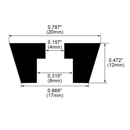 55pcs Rubber Feet Bumper Buffer Printer Leg Pad with Metal Washer, D20x17xH12mm - image 3 of 7