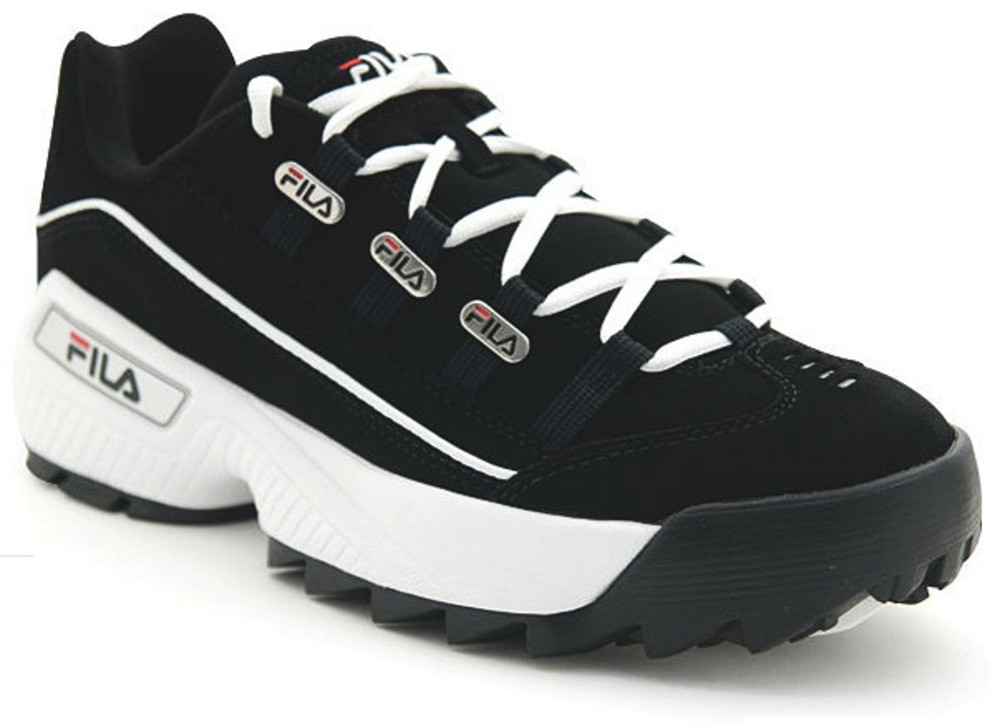 Fila FW02752-014: Men's Hometown Extra Black White Vintage Red Sneaker (9 D(M) US Men) by Fila