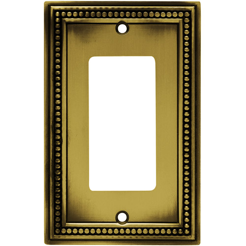 Brainerd Beaded Single Decorator/GFCI Wall Plate, Available in Multiple Colors