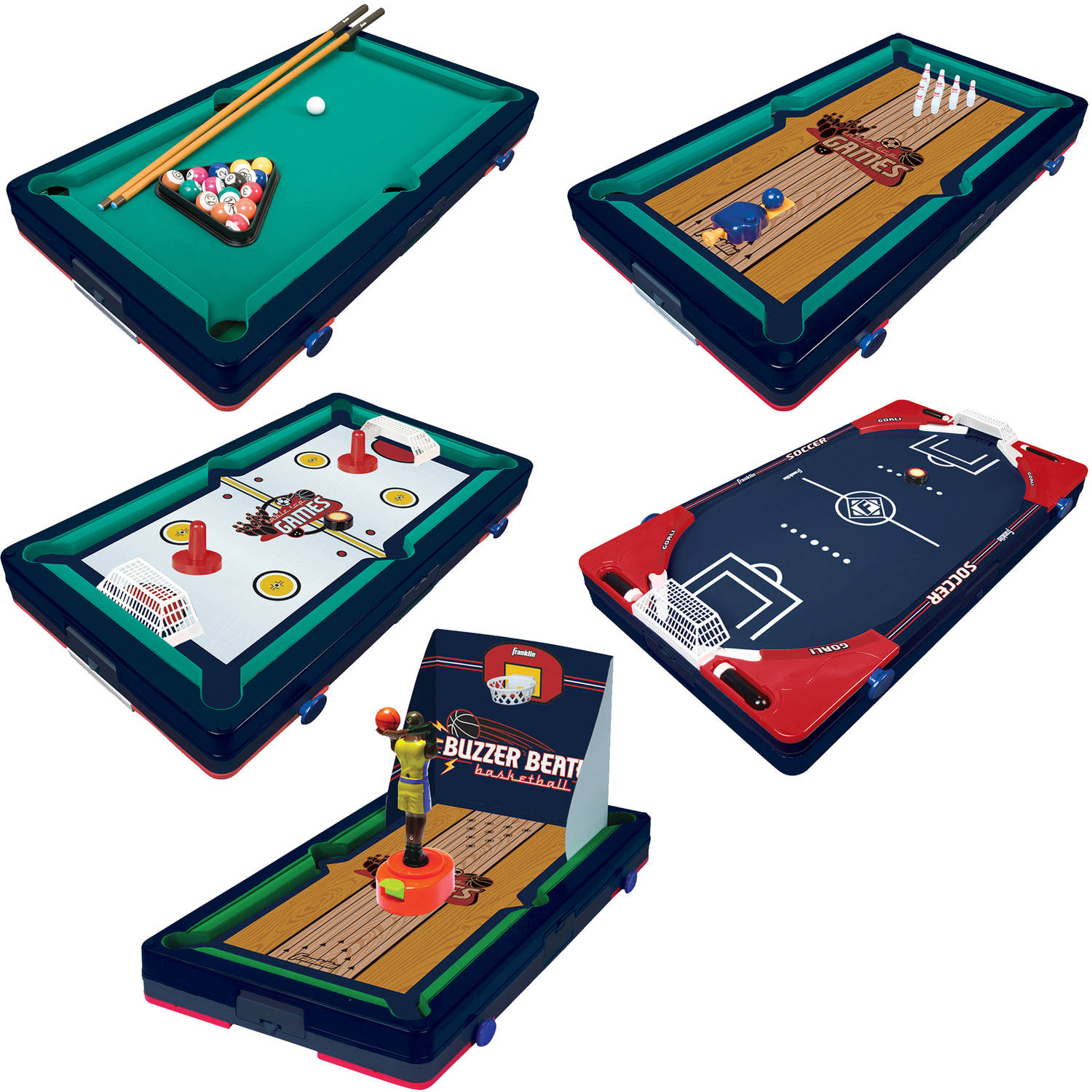 "Franklin Sports 5-In-1 Sports Center Table Top Game, 18.5"" x 10.5"" x 3"""
