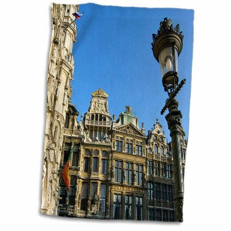 3dRose Belgium, Brussels, Grand Place, Guild houses-EU04 JEN0026 - Jim Engelbrecht - Towel, 15 by 22-inch Brussels Grand Places House