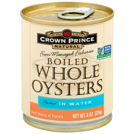 (2 Pack) Crown Prince Natural Whole Boiled Oysters, 8