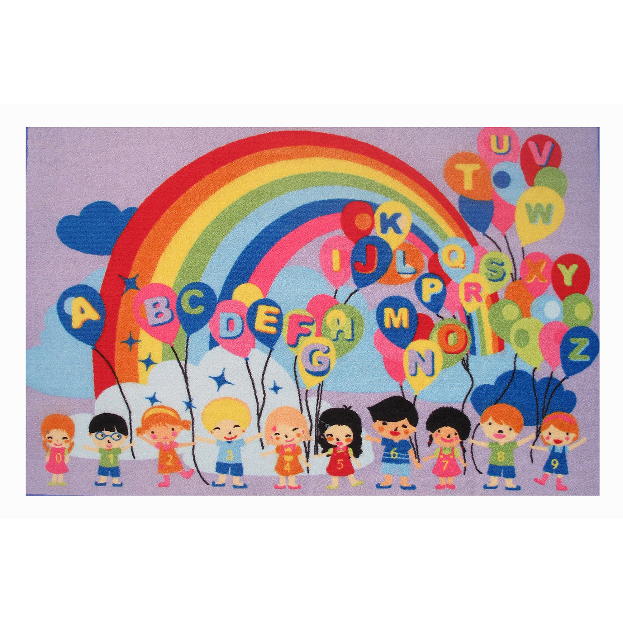 Fun Rugs Educational Balloons Rug