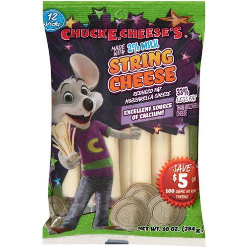 Chuck E. Cheese's® Reduced Fat Mozzarella String Cheese 12 ct Bag