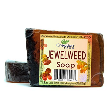 Jewelweed Soap 2 Large Bar Pack for Jewelweed Poison Ivy Wash and Soothing