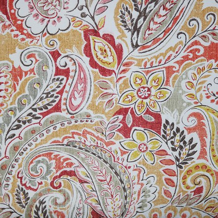 Swavelle Fabrics Tropix Outdoor Pezzola Rose Spice Floral Paisley